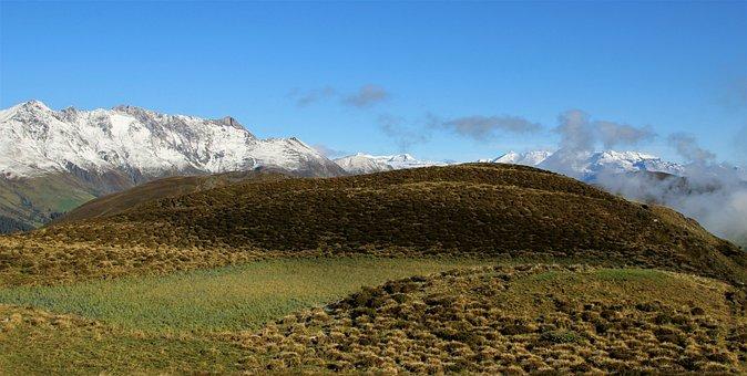 Mountains, Alpine, Sky, Panoramic Image, Snow Line