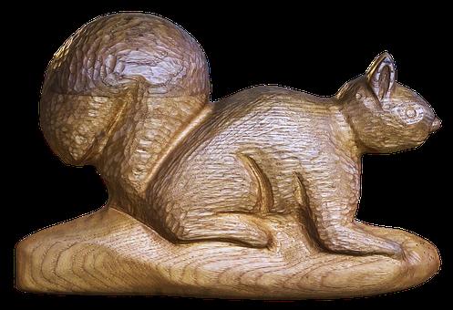 Eichkatz, Squirrel, Holzfigur, Figure, Wood, Animal