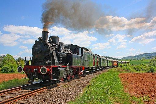 Train, Railway, Railway Line, Motor, Steam