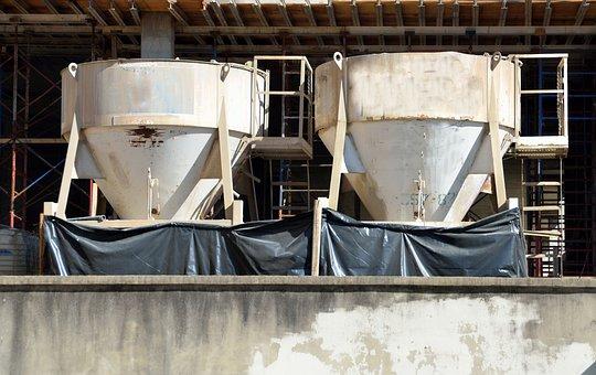 Industry, Steel, Grinder, Cement Mixer, Work