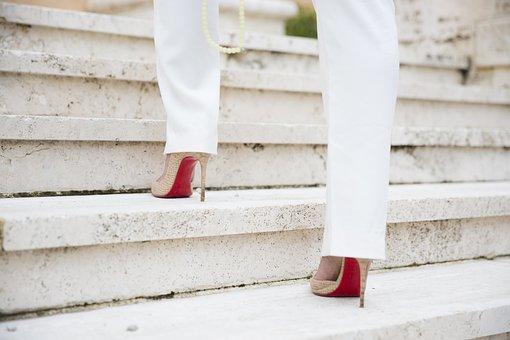 Steps, Woman, High Heels, Stilettos, Female, Walking
