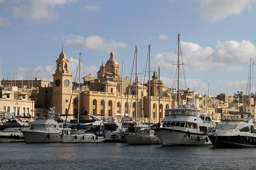 Marina, Boats, Bay, Yacht, Luxury