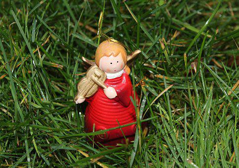 Angel, The Figurine, Grass, At The Court Of, Your Baby