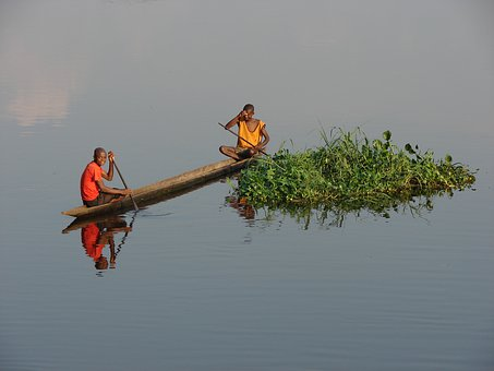 Of The Congo, Fisherman, River, Africa