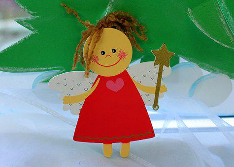 Angel, The Figurine, Decoration, Winter, Cheerful