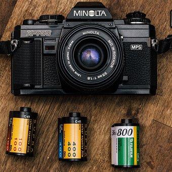 Minolta, Lens, Shutter, Obsolete, Retro, Antique, Old