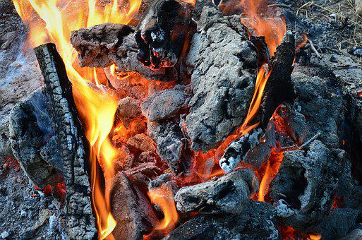 Flame, Job, Coal, Burn, Campfire, Background, Hot