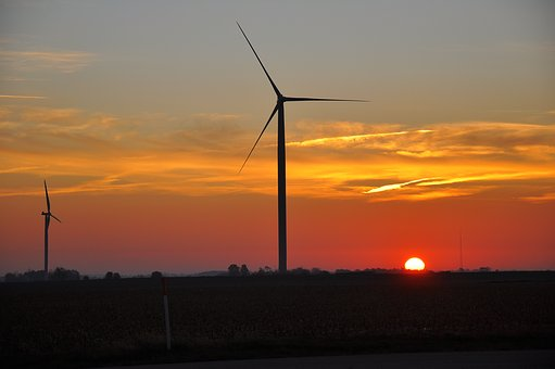 Energy, Sunset, Electricity, Windmill, Power, Turbine