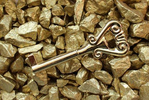 Key, Gold, Symbol, Metal, Entrance, Golden Key