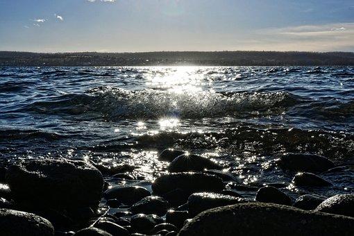 Waters, Sea, Coast, Beach, Ocean, Wave, Sky, Surf, S