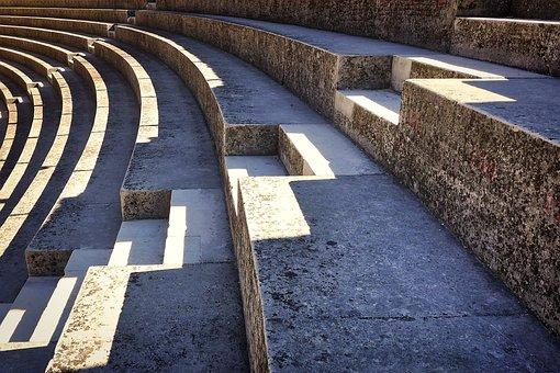 Travel, Antique, Colosseum, Roman, Theater, Sit