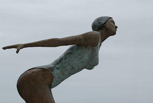 Sculpture, Woman, Figure, Statue, Art, Body, Bathers