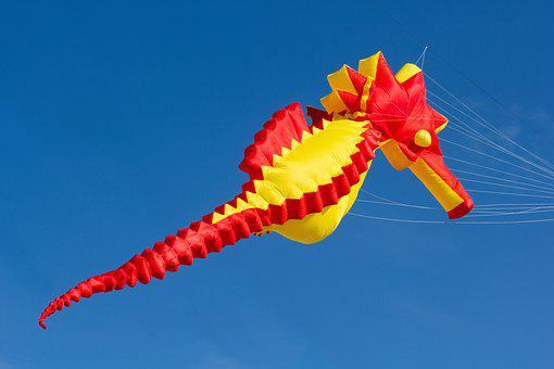Sky, Nature, Color, Dragons, Dragon Festival, Hanover