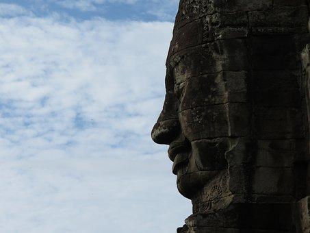 Travel, Sky, Sculpture, Outdoors, Statue, Cambodia