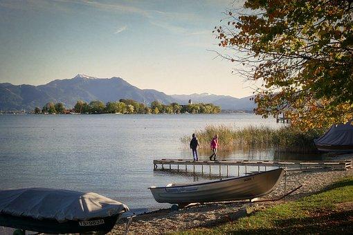 Lake, Waters, Nature, Travel, Boot, Web, Ladies Island