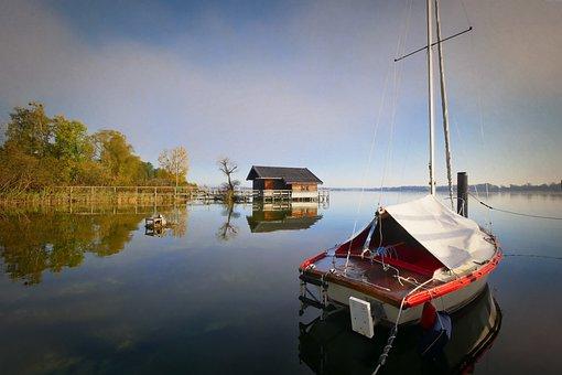 Waters, Lake, Nature, Reflection, Chiemsee