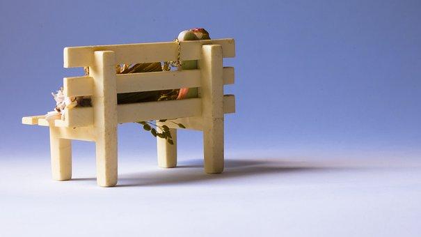 Wood, Bank, Park Solitude, Furniture, Rest, Park