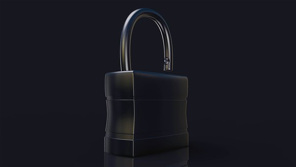 Isolated, Padlock, 3d, Security, Protection, Safety