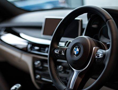Bmw, Car, Dashboard, Steering Wheel