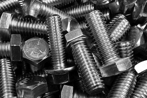 Industry, Bolt, Fastener, Screw, Steel