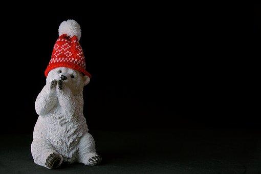 Christmas, Holidays, Winter, Teddy Bear, Cap, Ornament