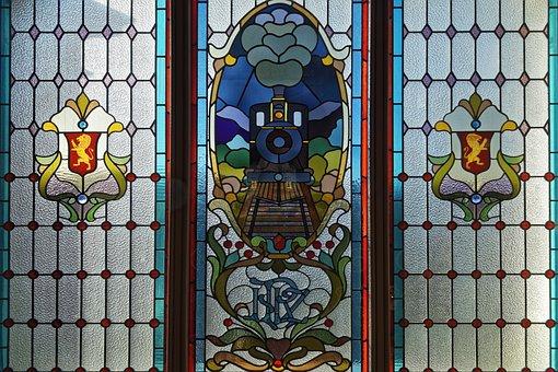 New Zealand, Dunedin, The Train Station Window, Art