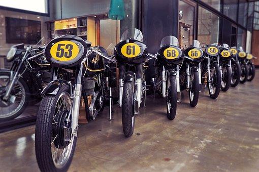 Wheel, Motorcycle, Vehicle, Ajs, English, Vintage, Old
