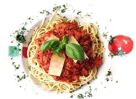 Food, Pasta, Spaghetti, Basil, Healthy, Meal, Dinner