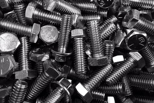 Bolt, Screw, Industry, Fastener, Steel
