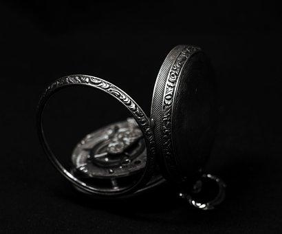 Jewellery, Pocket Watch, Hand Engraving, Analog