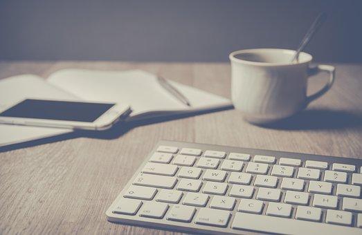 Computer, Laptop, Technology, Business, Keyboard, Paper