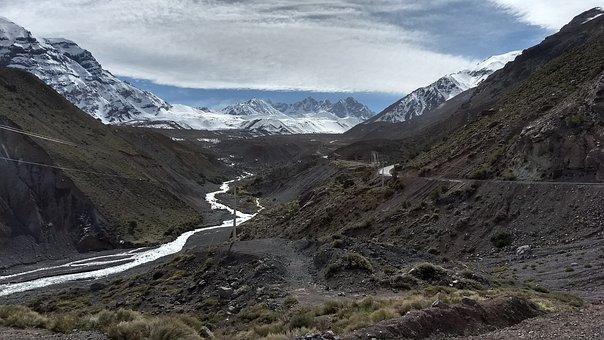 Mountain, Nature, Widescreen, Landscape, Snow, Maipo