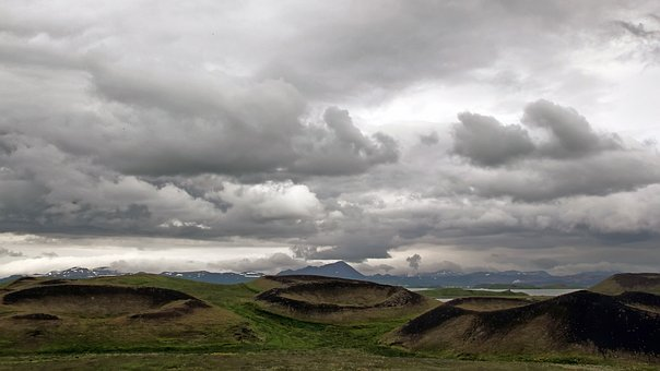 Mývatn, Pseudo Craters, Iceland, Panoramic, Nature