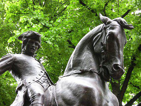 Statue, Sculpture, Paul Revere