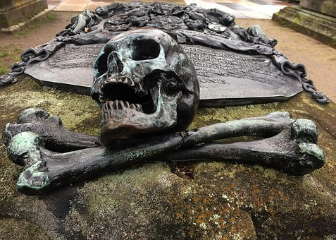 Skeleton, Skull, Scary, Teeth, Fear, Tombstone, Grave