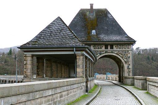 Eder Dam, Dam, Gate Building, Transition, Natural Stone