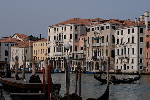 Channel, Architecture, Venetian, City, Gondola