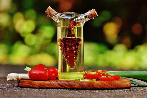 Tomatoes, Spring Onions, Vinegar, Oil, Delicious, Food