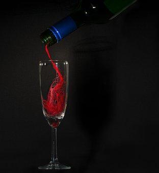 Wine, Liquor, Drink, Fluid, Party, Bottle, Surprise