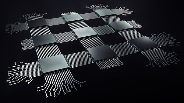 Processor, Electronics, Chip, Background