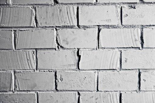 Brick Wall, Wall, Brickwork, White Brick Wall, Masonry