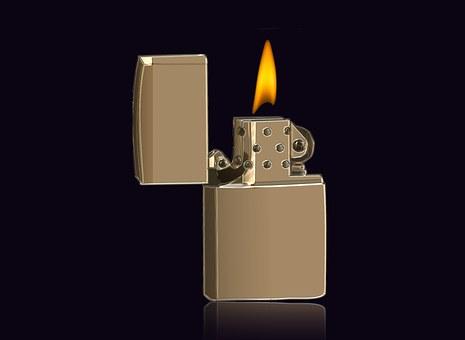 Lighter, Closeup, Macro, Gold, Dependency, Addiction