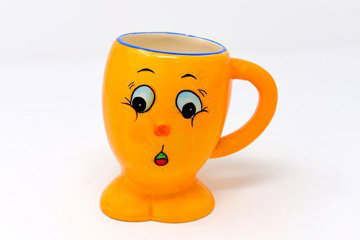 Cup, Drink, Vessel, Smiley, Funny, Cute, Coffee