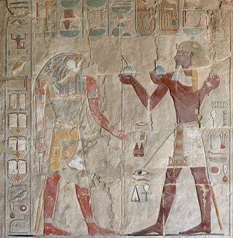 Egypt, Luxor, Mortuary Temple Of Hatshepsut Art, Relief