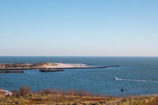 Helgoland, Dune, Coast, Travel, Sky, Sun, Island