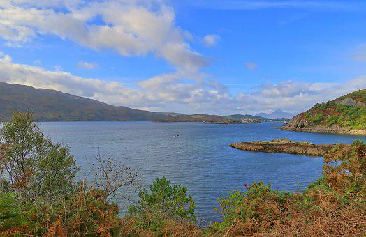 Waters, Nature, Lake, Landscape, Sky, Loch Alsh