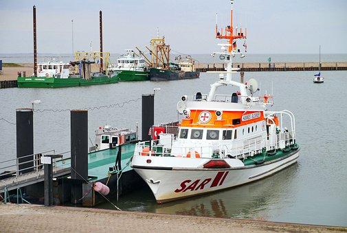 Distress, Lifeboat, Investors, Hooksiel, Sea, Waters