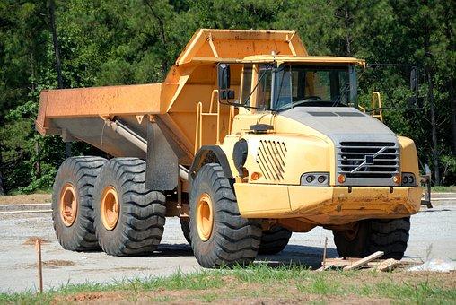 Dump Truck, Machine, Heavy, Vehicle, Construction