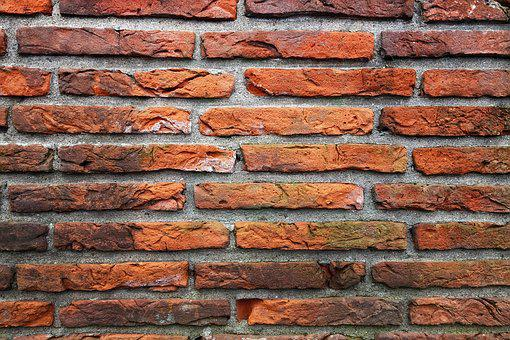 Brick Wall, Wall, Red Brick Wall, Masonry, Seam, Mortar