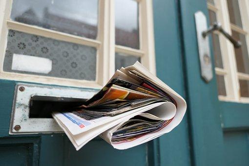 Newspaper, Post, Mailbox, News, Message, Information